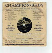 78T 15cm THEATRE PETIT MONDE Pygmo Disque RONDE ENFANTINE CHAMPION BABY 168 RARE