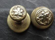 antique Edwardian art nouveau flower gold tone dress stud button set -C320