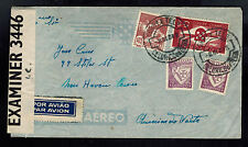 1942 Portugal Censored Airmail cover to USA