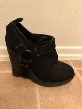 NEW OPENING CEREMONY MARY BELLE HARNESS BLACK SUEDE ANKLE BOOTS BOOTIE Size 6