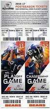 2016-17 Chicago Bears NFC Playoff & Championship Phantom Ticket Sheet EX-NM
