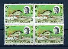 BRITISH INDIAN OCEAN TERRITORY 1973 DEFINITIVES SG52 BLOCK OF 4 MNH