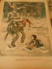 Pauvre enfant creuser un trou dans la neige cherchait son chemin Humour Print