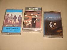 3 x THE DOORS - Soft Parade / Waiting / Morrison Hotel - MC Cassette tape /Z1