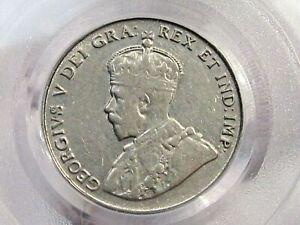 Choice AU 1922 5¢ Five Cent Nickel CANADA PCGS AU53.  #4