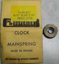 """New listing Superior Clock Mainspring No. 80-937 9/32"""" X 007 X 44"""" Hole End Clockmaker"""