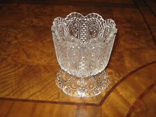 Vintage Avon Collectors Fostoria Crystal Glass Pedestal Candle Holder