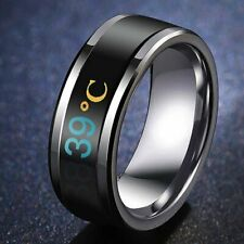 Titanium Steel Mood Emotion Feeling Intelligent Temperature Sensitive Rings New
