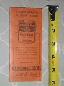 Grossman Bros. Gold Bond House Paint Advertising Booklet Spokane, Washington WA