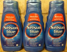 (3) Selsun Blue Dandruff Shampoo - Medicated With Menthol - 11 oz