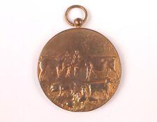 """Belgian bronze medal """"Annual Market"""" 1913 Gemeente St Gillis Waas - Catle -MB"""