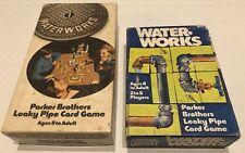 1970s Waterworks Card Games 2 Parker Brothers Pipes Plumbing Parts Incomplete