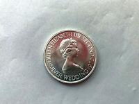 Silberhochzeit der Queen Jersey, 2 1/2 Pounds 1972,Silber, 27,33 g, Stempelglanz