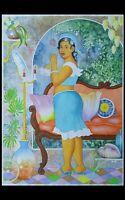 """Erotik, grosses Aquarell 50x70 cm, """"Sweet Lady"""", LOVELY LISA Art"""