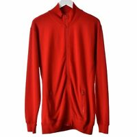 Engelbert Strauss Mens Workwear Jumper large red full zip closure sweater shirt