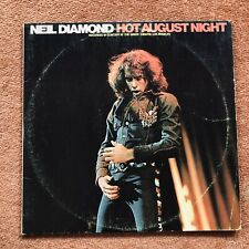 "Neil Diamond Hot August Night Gatefold Double 12"" Vinyl LP 1974 Reissue MCA"