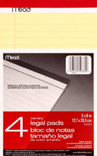 Mead Canary Junior Legal Pads, 5 x 8 Inch, 4 Pack 50 Sheets 59382