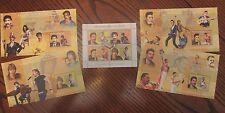Freddie Mercury & Famous Musicians 2006 Congo Stamp Sheets; 5 Piece Set Lot!