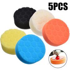 5x Car Polisher 3 inch Sponge Polishing Waxing Buffing Pads Kit Set 80mm New