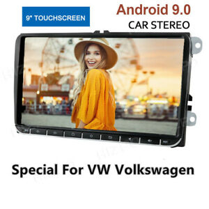 """Double Din 9"""" Touch Screen Car MP5 Player Radio GPS Sat Nav Stereo WiFi For VW"""