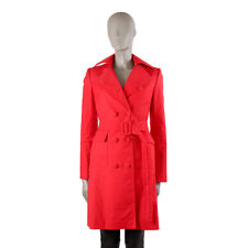 40002 auth STELLA MCCARTNEY red cotton Double-Breasted Trench Coat Jacket 40 S