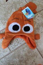 Disney Finding Dory Nemo Hat Mittens Winter Set Knit Beanie Kids Toddlers Orange