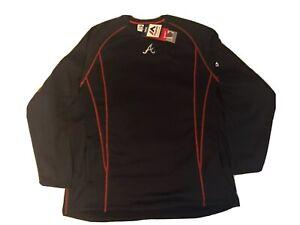 Atlanta Braves Pullover MLB Authentic Mens Medium SRP $80