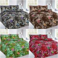 NEW ABBY FLORAL DUVET QUILT COVER BEDDING SET SINGLE DOUBLE KING SUPER KING SIZE