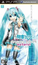 USED PSP Sega Hatsune Miku Project Diva Extend Game Japan