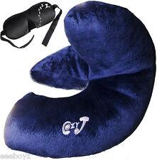Cozy-J mejor almohada de viaje Soporta Chin, Cabeza Y Cuello + Gratis Diseñador Máscara De Ojo