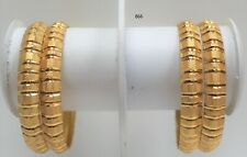gold plated indian large size bangles traditional pakistani kangan chudiya gold