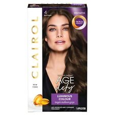 Clairol Age Defy Permanent Hair Dye 4 Dark Brown