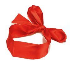 Soft Silk Satin Eye Mask Blindfold Ribbon  Bondage Patch - Unisex Adult - RED