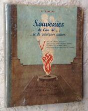 Marceau SOUVENIRS DE L'AN 40 poèmes d'actualité édités à Beyrouth en 1942 LIBAN