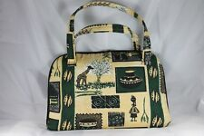 Laptop bag Case Handmade Kenya Safari Theme Textile