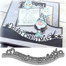 Merry Christmas Lace Metal Cutting Dies Stencils Scrapbooking Card Making Craft