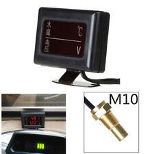 Digital Car Truck Display Voltmeter Voltage Water Temperature Temp Gauge Monitor