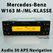 Original Mercedes Audio 30 APS W163 Navigationssystem M- ML-Klasse Navi CD Radio