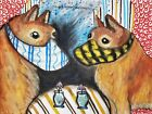 Finnish Spitz Quarantine Collectible Dog Pop Art Print 13x19 Signed Artist KSams