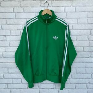 Adidas Mens Track Top Full Zip Jacket - Medium M - Tracksuit - Green - 3 Stripes