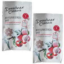 2X Dresdner Essenz Winterbeeren Bad con Bayas en la Nariz y Aceite de Almendra