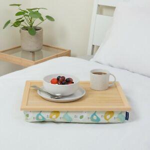 Bean bag lap tray cushioned multipurpose comfy Scandi Garden Birds Blue Badge Co