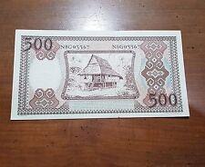 Indonesia 500 Rupiah 1958 Ladder Serial Number RARE UNC-