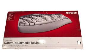 Microsoft Keyboard Natural Multimedia Ergonomic Design~New & Factory Sealed
