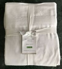 Pottery Barn 500-Thread-Count Sateen Sheet Set,  White Size Cal King, W/$199.00