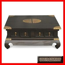 NEW BEIJING SOLID MAHOGANY Coffee Side Table Timber WOODEN 4 drawers 1.0M x 1.0M