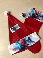 Spiderman Christmas Santa Hat and Stocking Holiday Set