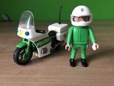 Playmobil 3983 Polizei Motorrad mit Fahrer