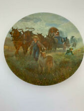 KNOWLES COLLECTORS PLATE - WESTWARD HO! - 1987 - LIMITED EDITION DECOR 8.5""