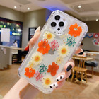 For iPhone 12 Pro Max 11 XS X XR 7 8 Plus Shockproof Flower Clear TPU Case Cover
